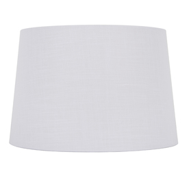 display product reviews for 10in x 15in white linen fabric drum lamp