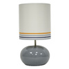 14-in Gray Indoor Table Lamp with Fabric Shade