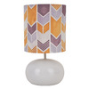 14-in White Indoor Table Lamp with Fabric Shade