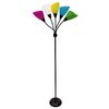 Style Selections 67-in 3-Way Black Standard Multi-Head Indoor Floor Lamp with Plastic Shade