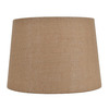 allen + roth 9-in x 13-in Tan Burlap Fabric Drum Lamp Shade
