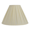 allen + roth 12.5-in x 17-in Cream Fabric Cone Lamp Shade