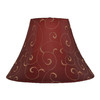 allen + roth 10-in x 14-in Red and Gold Fabric Bell Lamp Shade