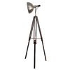 allen + roth Grancove 56-in Espresso and Brushed Nickel Indoor Floor Lamp with Metal Shade