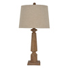 allen + roth Edensley 28-in Saddle Indoor Table Lamp with Fabric Shade