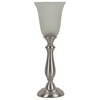 J. Hunt Home Woodbine 18.75-in Brushed Nickel Indoor Table Lamp with Glass Shade