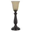 Woodbine 18.75-in Dark Oil-Rubbed Bronze Indoor Table Lamp with Glass Shade
