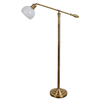 allen + roth 54-in Brass Indoor Floor Lamp with Glass Shade