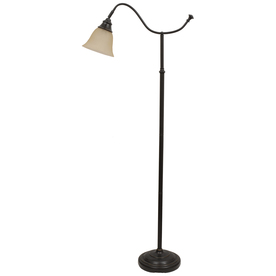 Shop Portfolio 59-in Bronze Indoor Floor Lamp with Glass Shade at