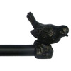 Style Selections 48-In to 84-In Aged Bronze Traditional Metal Single Curtain Rod
