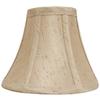 Portfolio 5-in x 6-in Silken Toast Bell Lamp Shade