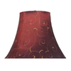Portfolio 6-in x 12-in x 9-in Red Embroidered Bell Shade