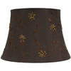 Portfolio 11-1/2-in x 17-in Brown Bell Lamp Shade