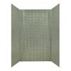 MirroFlex Wavation Galvanized Fiberglass and Plastic Composite Bathtub Wall Surround (Common: 40-in x 60-in; Actual: 96-in x 40-in x 60-in)