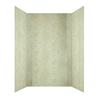 MirroFlex Crossroads In Travertine Fiberglass and Plastic Composite Bathtub Wall Surround (Common: 40-in x 60-in; Actual: 96-in x 40-in x 60-in)