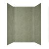 MirroFlex Herringbone Travertine Fiberglass and Plastic Composite Bathtub Wall Surround (Common: 60-in x 32-in; Actual: 96-in x 60-in)