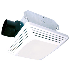 Air King 4-Sone 70 CFM White Bathroom Fan with Light