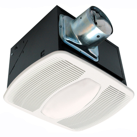 Air King 1-Sone 80-CFM White Bathroom Fan with Light ENERGY STAR