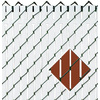 Pexco Red Chain-Link Fence Privacy Screen