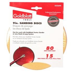 GOLDBLATT 15-Pack 80-Grit 9-in W x 9-in L Drywall Sandpaper