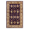 DYNAMIC RUGS Charisma 48-in x 6-ft Rectangular Purple Floral Area Rug