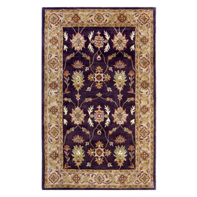 DYNAMIC RUGS Charisma 9-ft 6-in x 13-ft 6-in Rectangular Purple Floral Area Rug