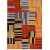 DYNAMIC RUGS Nolita 48-in x 6-ft Rectangular Multicolor Block Area Rug