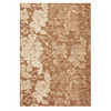 DYNAMIC RUGS Mysterio 24-in x 47-in Rectangular Tan Floral Accent Rug