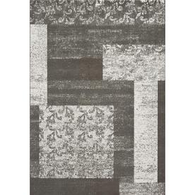 DYNAMIC RUGS Mysterio 24-in x 47-in Rectangular Silver Geometric Accent Rug