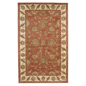 DYNAMIC RUGS Charisma 48-in x 6-ft Rectangular Orange Floral Area Rug