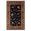 DYNAMIC RUGS Charisma 8-ft x 11-ft Rectangular Black Floral Area Rug