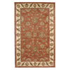 DYNAMIC RUGS Charisma 8-ft x 11-ft Rectangular Orange Floral Area Rug