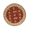 DYNAMIC RUGS Charisma 5-ft 3-in x 5-ft 3-in Round Red Floral Area Rug