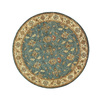 DYNAMIC RUGS Charisma 5-ft 3-in x 5-ft 3-in Round Blue Floral Area Rug