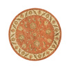 DYNAMIC RUGS Charisma 5-ft 3-in x 5-ft 3-in Round Orange Floral Area Rug