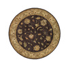 DYNAMIC RUGS Charisma 5-ft 3-in x 5-ft 3-in Round Purple Floral Area Rug