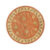 DYNAMIC RUGS Charisma 7-ft 10-in x 7-ft 10-in Round Orange Floral Area Rug