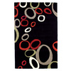 DYNAMIC RUGS Nolita 48-in x 6-ft Rectangular Black Geometric Area Rug