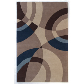 DYNAMIC RUGS Nolita 48-in x 6-ft Rectangular Beige Geometric Area Rug