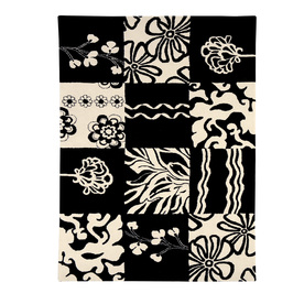 DYNAMIC RUGS Nolita 8-ft x 11-ft Rectangular Black Geometric Area Rug