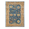 DYNAMIC RUGS Charisma 8-ft x 11-ft Rectangular Blue Floral Area Rug