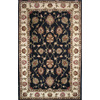 DYNAMIC RUGS Charisma 48-in x 6-ft Rectangular Black Floral Area Rug