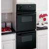 GE Self-Cleaning Double Electric Wall Oven (Black) (Common: 24-in; Actual: 23.75-in)
