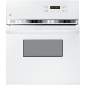 GE 24-in Self-Cleaning Single Electric Wall Oven (White)