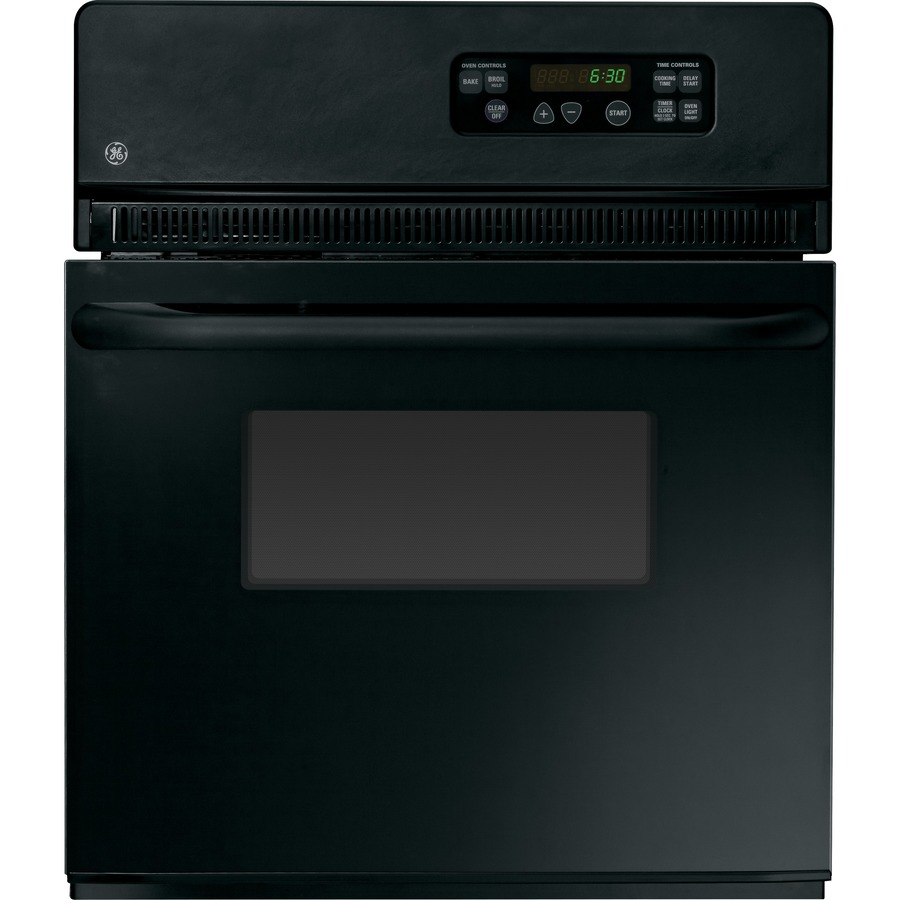 Shop GE Single Electric Wall Oven (Black) (Common: 24-in; Actual 23.75 ...
