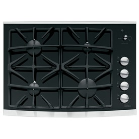 GE Profile 4-Burner Gas Cooktop (Stainless Steel) (Common: 30-in; Actual: 29.75-in)
