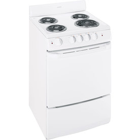 Hotpoint Freestanding 3-cu ft Electric Range (White) (Common: 24-in; Actual: 24-in)