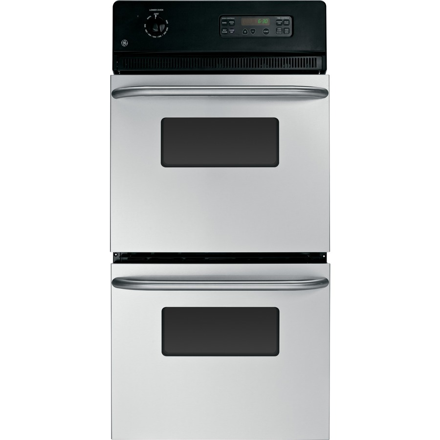 Self-Cleaning Double Electric Wall Oven (Stainless Steel) (Common: 24 ...