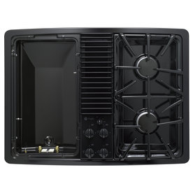 GE Profile 30-in 2-Burner Gas Cooktop (Black)