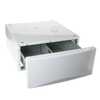 GE 13.375-in x 27-in White Laundry Pedestal with Storage Drawer